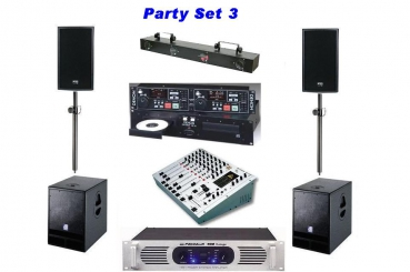 Party Set 3 Verleihpreis pro Tag